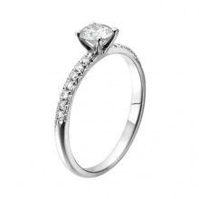 Trang sức vàng trắng đá kim cương nhân tạo - VTRG0724
