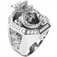 Nhẫn nam bạc mạ vàng trắng - NNAM090