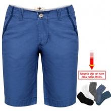 Quần short kaki nam cao cấp pigofashion PSK01 (xanh biển , tặng vớ)