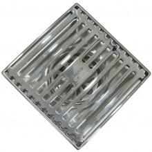 Hố ga thoát sàn chống hôi Inox SUS 304 10x10cm Eurolife EL-HG04-1 ( Trắng bạc)