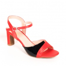 Giày sandal quai ngang cao 5 phân thời trang Erosska EM014 (RE)