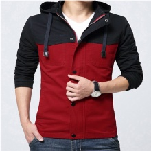 Áo khoác nam kaki 2 lớp có nón AKK006 - đỏ