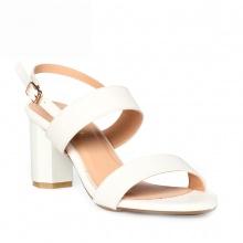 Giày nữ, giày cao gót block heel Erosska thời trang đơn giản tính tế - EM003 (WH)
