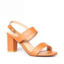 Giày nữ, giày cao gót block heel Erosska thời trang đơn giản tính tế - EM003 (màu cam đất)
