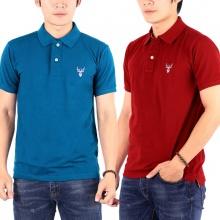 Bộ 2 áo thun nam cổ bẻ chuẩn mọi phong cách pigofashion PG01 (công, đỏ đô)