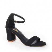Giày nữ, giày cao gót block heel Erosska da lộn đế vuông kiểu dáng basic - EM006 (BA)
