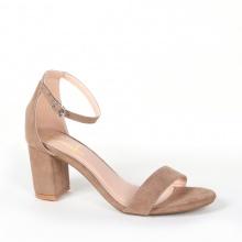 Giày nữ, giày cao gót block heel Erosska da lộn đế vuông kiểu dáng basic - EM006 (br)