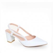 Giày nữ, giày cao gót kitten heel erosska đế vuông cao 5cm phối dây thời trang - EH021 (WH)