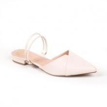 Giày nữ, giày cao gót kitten heel Erosska mũi nhọn cao 2cm mũi nhọn phối dây thời trang - EL004 (Màu nude)