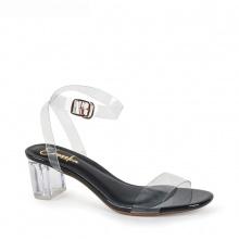 Giày nữ, giày cao gót block heel quai trong Erosska đế vuông cao 5cm - EM010 (BA)