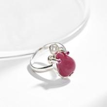 Nhẫn bạc thiềm thừ Ruby Ngọc Quý Gemstones