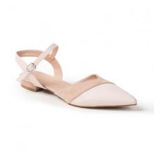 Giày nữ, giày cao gót ktten heel Erosska mũi nhọn tinh tế kiểu dáng cách điệu - EL006 (Màu nude)