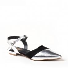 Giày nữ, giày cao gót kitten heel Erosska mũi nhọn tinh tế kiểu dáng cách điệu - EL006 (Màu đen)