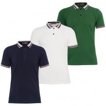Bộ 3 áo thun polo nam cổ bẻ phối độc đáo Pigofashion AHT06 (Trắng, xanh đen, rêu)