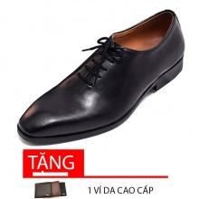 Giày tây nam buộc dây da bò cao cấp N0103B Lucacy-Tặng ví da cao cấp
