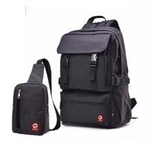 Combo balo laptop thời trang HARAS HR112HR147 màu đen