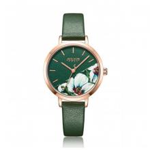 Đồng hồ nữ dây da chính hãng Julius Hàn Quốc JA-1089D (Xanh Lá)
