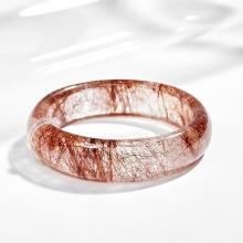 Vòng tay thạch anh tóc đỏ liền khối ni58 Ngọc Quý Gemstones