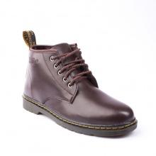 Giày boot nam cổ lửng đế khâu da trơn màu nâu phong cách - M354-NAU