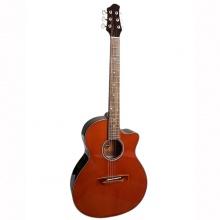 Đàn guitar acoustic DVE70 nâu đen - Duy Guitar Shop