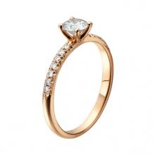 Nhẫm nữ vàng 14k đá kim cương nhân tao - VTRG0725