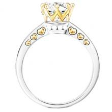 Nhẫn nữ đá kim cưng nhân tạo mạ vàng 14k - NNU202