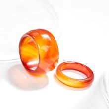 Nhẫn cặp nam nữ mã não đỏ Ngọc Quý Gemstones