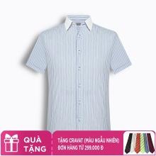 Áo sơ mi nam tay ngắn kẻ caro The Shirts Studio Hàn Quốc TD11F2336BL