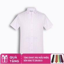 Áo sơ mi nam tay ngắn họa tiết The Shirts Studio Hàn Quốc TD42F2311PI