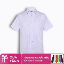 Áo sơ mi nam tay ngắn họa tiết The Shirts Studio Hàn Quốc TD11S2717BL