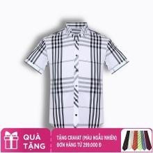 Áo sơ mi nam tay ngắn họa tiết The Shirts Studio Hàn Quốc TD13F2367WH