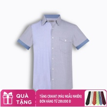 Áo sơ mi nam tay ngắn họa tiết The Shirts Studio Hàn Quốc TD45F6118GY