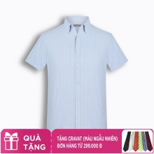 Áo sơ mi nam tay ngắn họa tiết The Shirts Studio Hàn Quốc TD45F6171BL