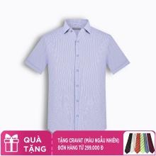 Áo sơ mi nam tay ngắn kẻ caro The Shirts Studio Hàn Quốc TD45F2316BL