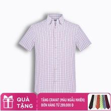 Áo sơ mi nam tay ngắn họa tiết The Shirts Studio Hàn Quốc TD45F6166RE