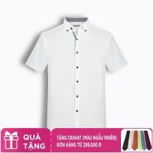 Áo sơ mi nam tay ngắn họa tiết The Shirts Studio Hàn Quốc TD42F2323WH