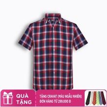 Áo sơ mi nam tay ngắn họa tiết The Shirts Studio Hàn Quốc TD45F2313RE095