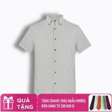Áo sơ mi nam tay ngắn họa tiết The Shirts Studio Hàn Quốc TD45F6157BK100