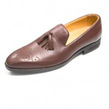 Giày lười nam giày tây da bò - Chính hãng Geleli