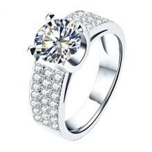 Nhẫn nữ đá kim cương nhân tạo - NNU60