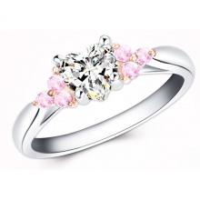 Nhẫn nữ đá kim cương nhân tạo - NNU77