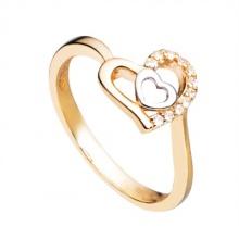 Nhẫn nữ trái tim mạ vàng 14k - NNU76