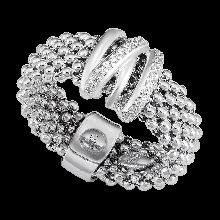 Nhẫn bạc Ý đính đá PNJSilver XMXMK060009