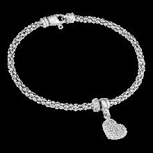 Lắc tay bạc Ý đính đá PNJSilver XMXMK060009