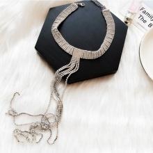 Vòng cổ choker đính đá luxury drop - Tatiana - CD1059(Bạc)