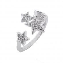 Nhẫn nữ mạ bạc đính ngôi sao lấp lánh - Tatiana - NB2399