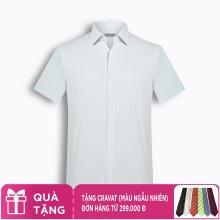 Áo sơ mi nam tay ngắn trơn màu The Shirts Studio Hàn Quốc TD10S2703GY