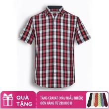 Áo sơ mi nam tay ngắn họa tiết The Shirts Studio Hàn Quốc TD12F2394RE
