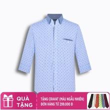 Áo sơ mi nam tay lửng họa tiết The Shirts Studio Hàn Quốc TD13F2333BL