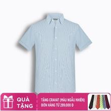 Áo sơ mi nam tay ngắn họa tiết The Shirts Studio Hàn Quốc TD45F6163BL
